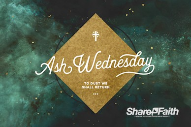 Ash Wednesday Church Service Bumper Video