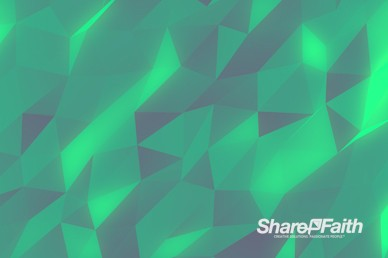 Polygon Emerald Worship Video Background