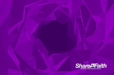 Polygon Tunnel Worship Video Background