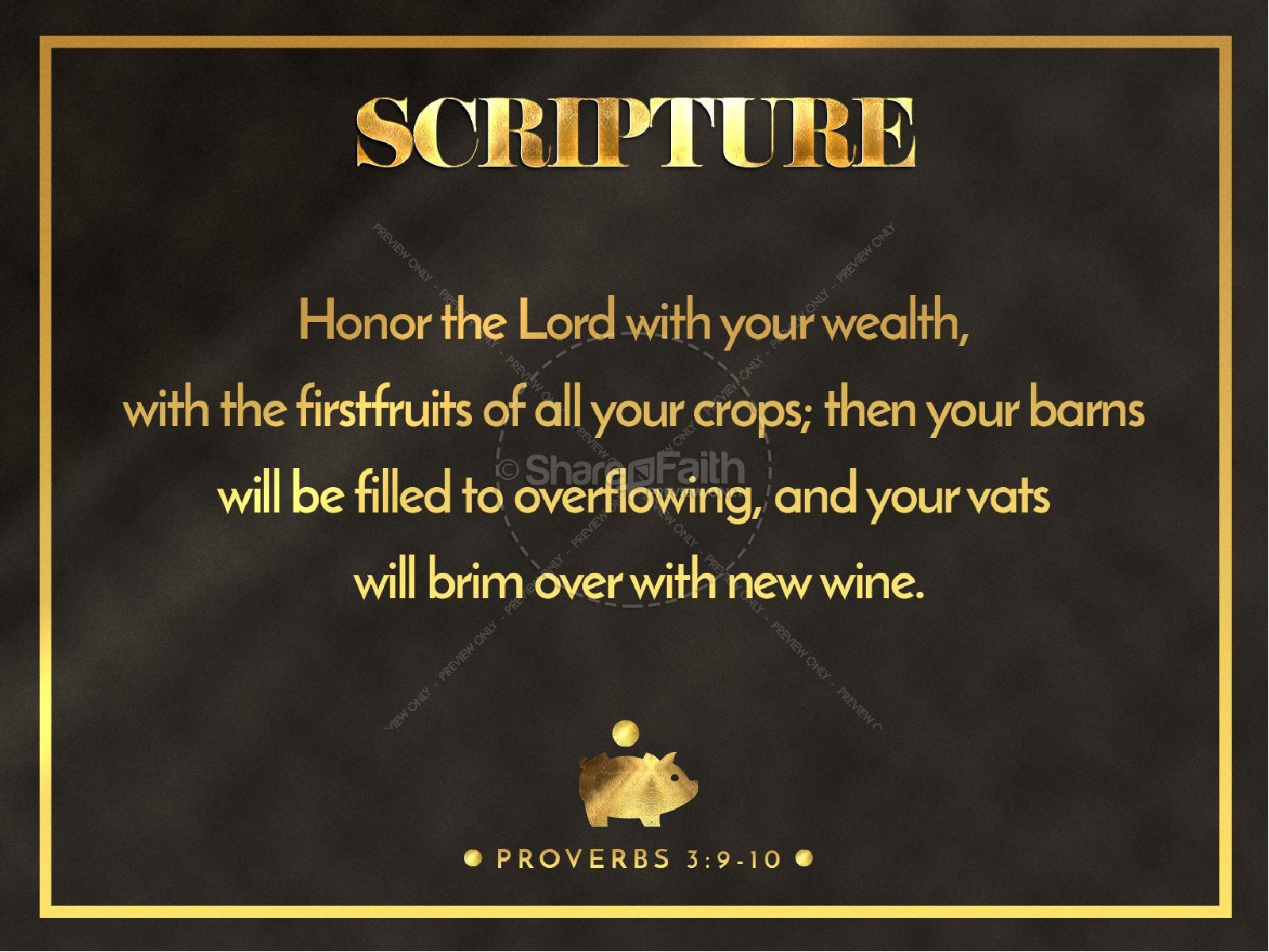 Financial Freedom Sermon PowerPoint Template