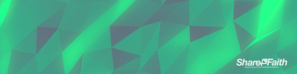 Polygon Emerald Triple Wide Motion Background
