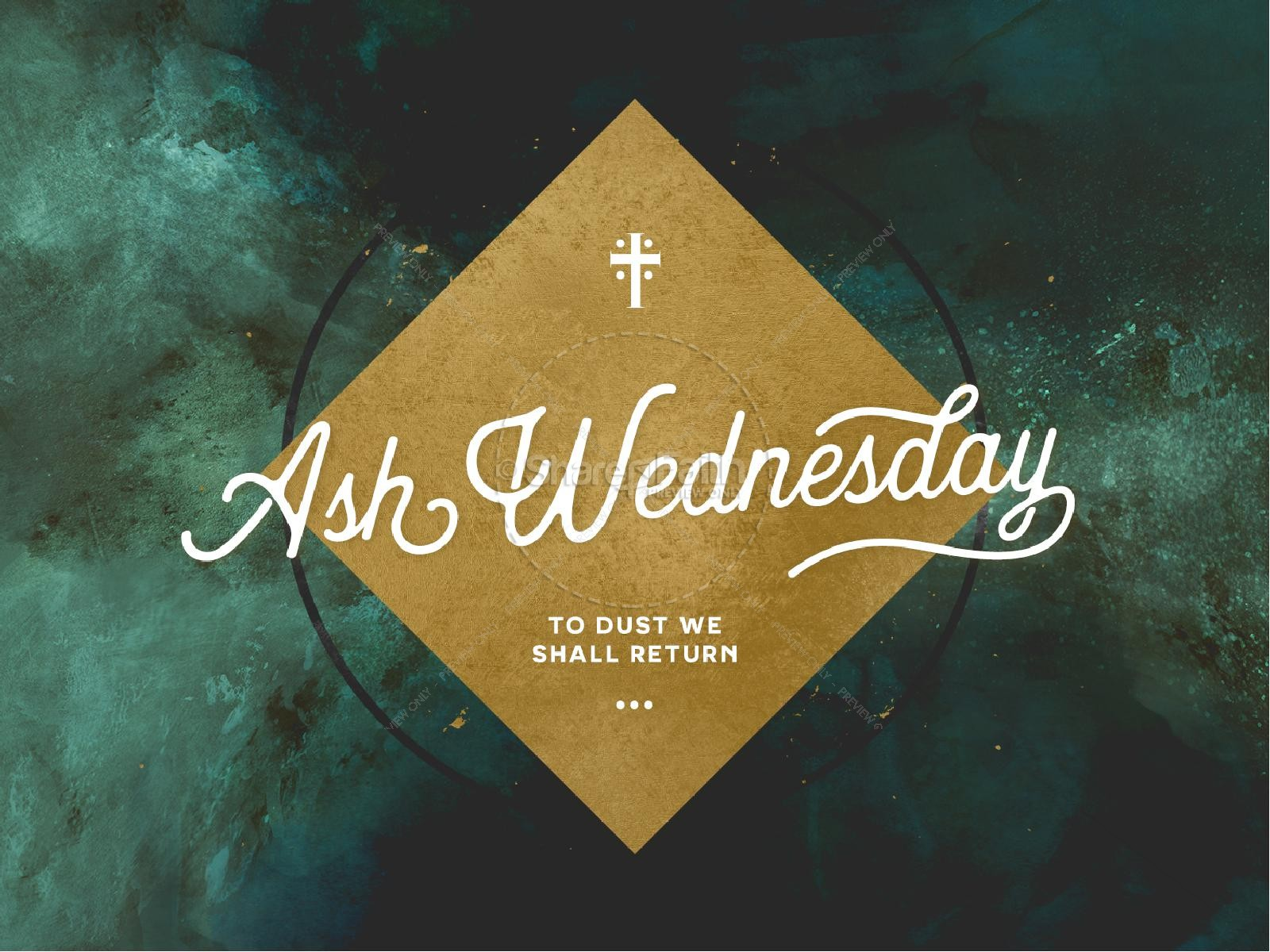 Lent Ash Wednesday Sermon PowerPoint