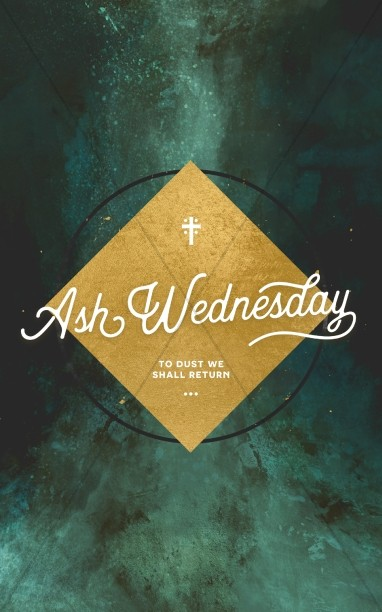 Ash Wednesday Church Service Bulletin Template