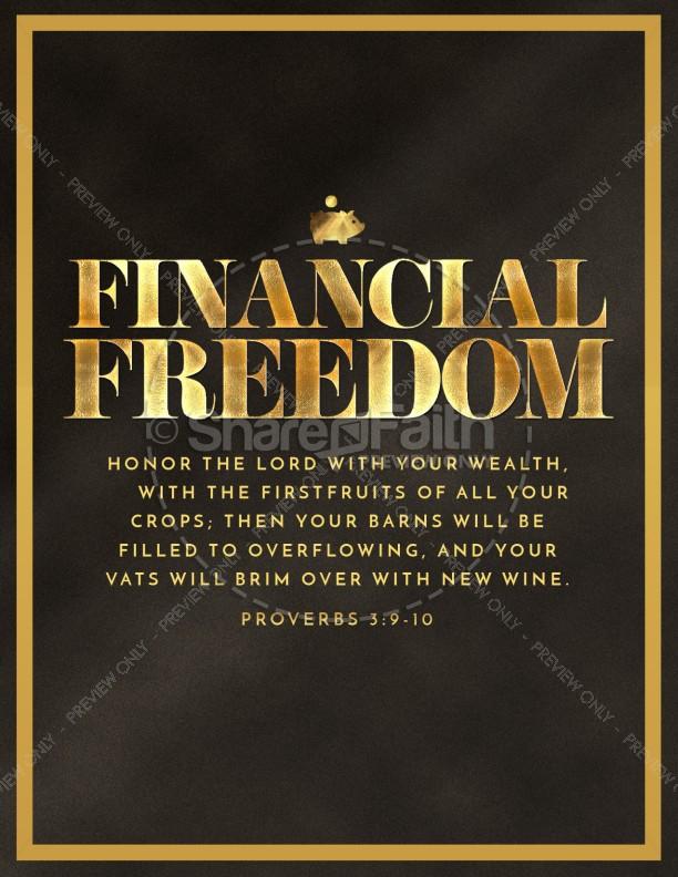 Financial Freedom Church Flyer Template