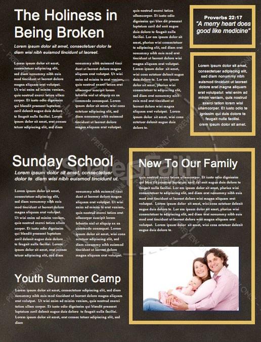 financial freedom church newsletter template template newsletter
