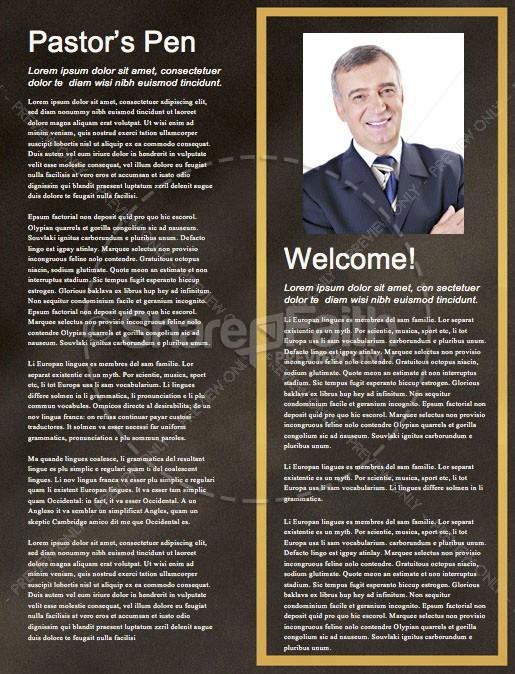 Financial Freedom Church Newsletter Template