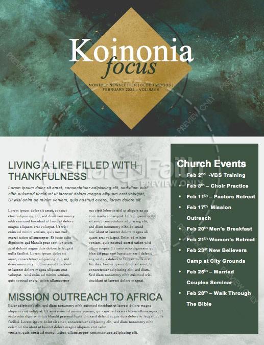 Lent Ash Wednesday Church Newsletter Template