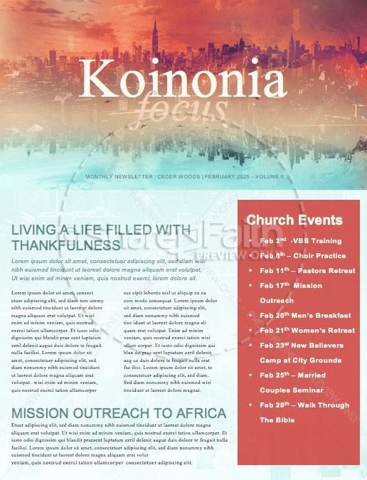Upside Down Kingdom Newsletter Template