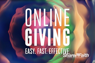 Online Giving Abstract Paint Texture Motion Graphic