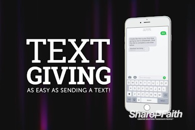 Text Giving Church Video Loop