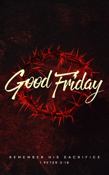 Good Friday Church Service Bulletin Cover