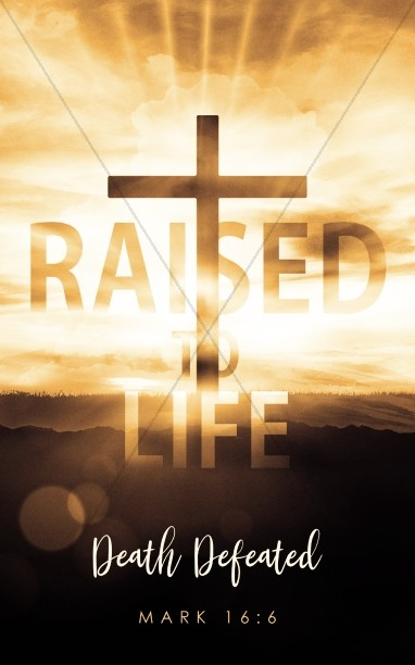 Raised To Life Easter Church Bulletin Cover