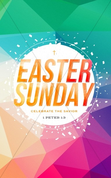 Easter Sunday Service Bulletin Cover