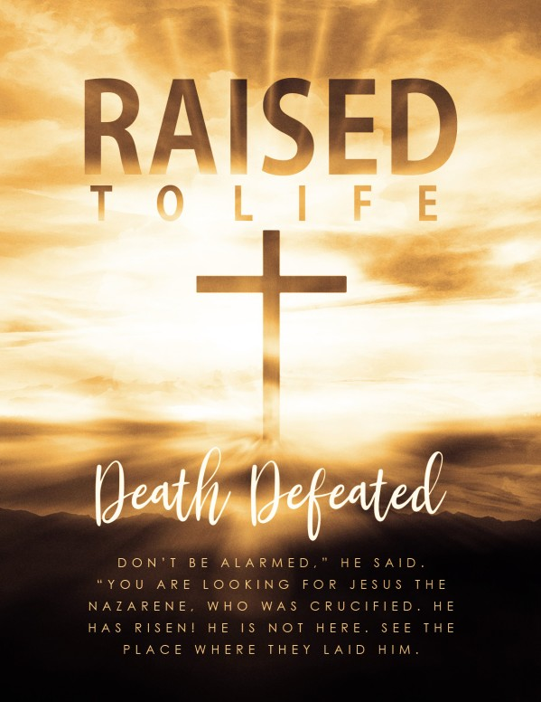 Raised To Life Easter Flyer Template