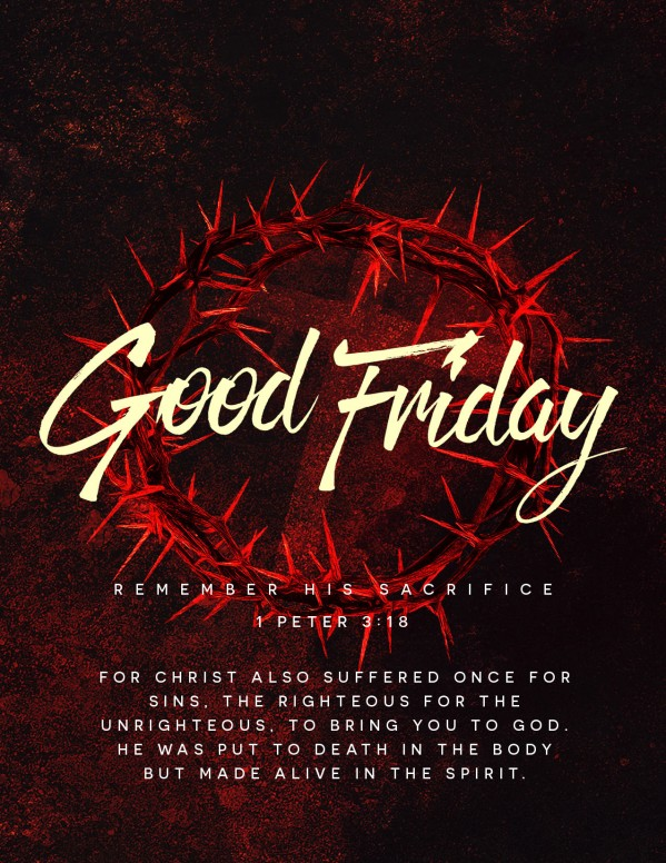 Good Friday Church Service Flyer Template