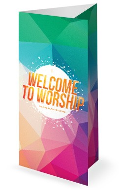 Easter Sunday Service Trifold Bulletin Template