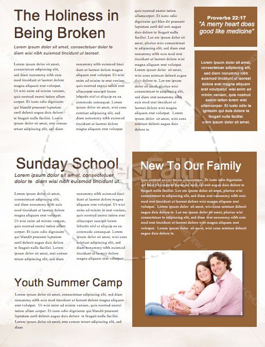 Raised To Life Easter Newsletter Template