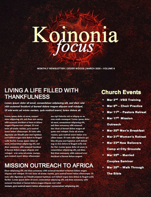 Good Friday Church Service Newsletter Template