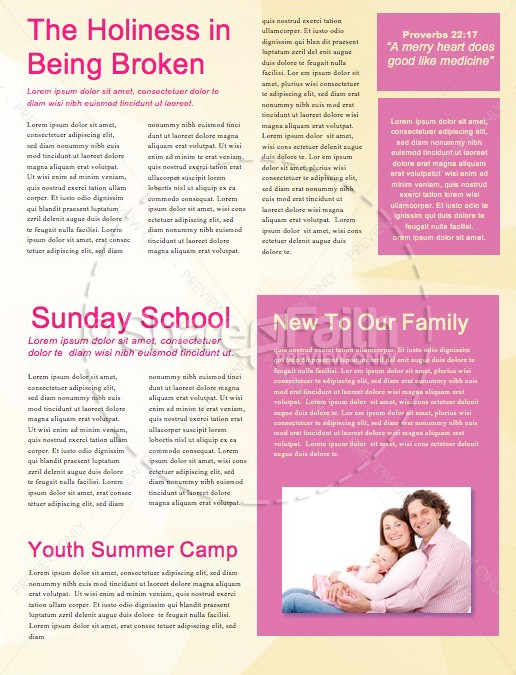 Easter Sunday Service Newsletter Template