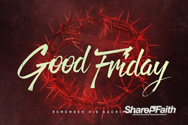 Good Friday Church Service Bumper Video