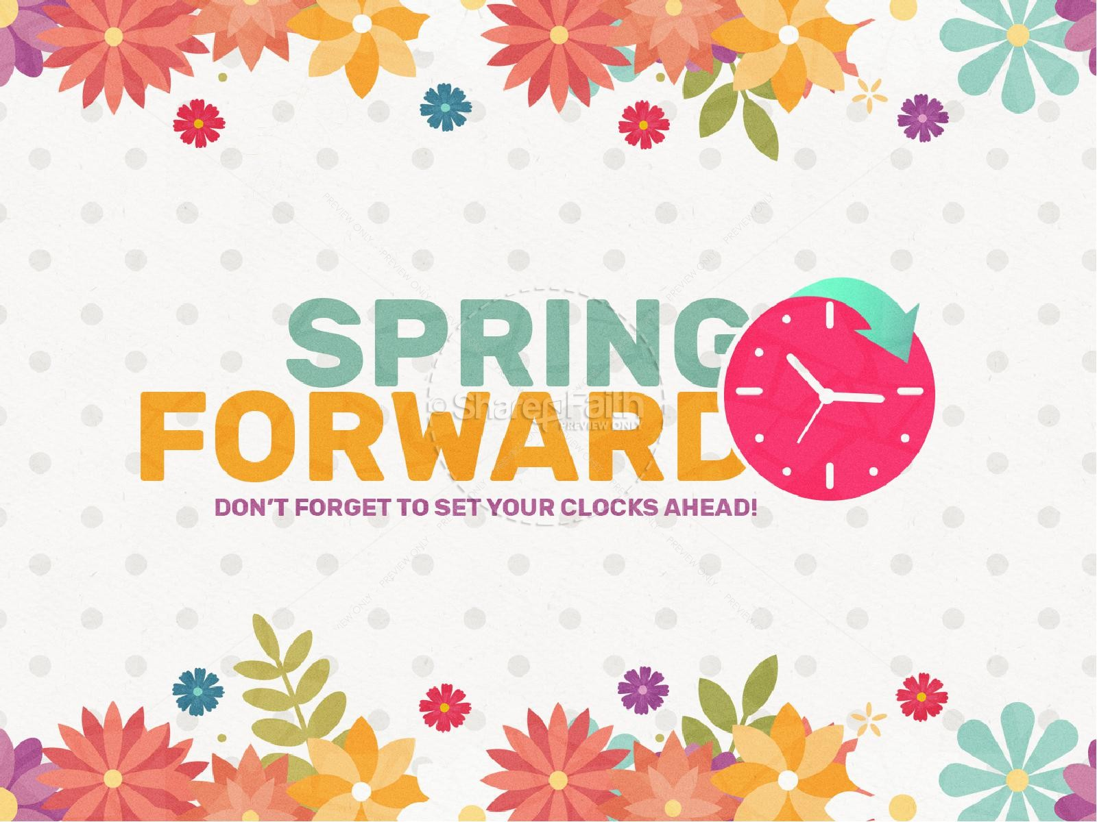 Daylight Saving Time Spring Forward PowerPoint