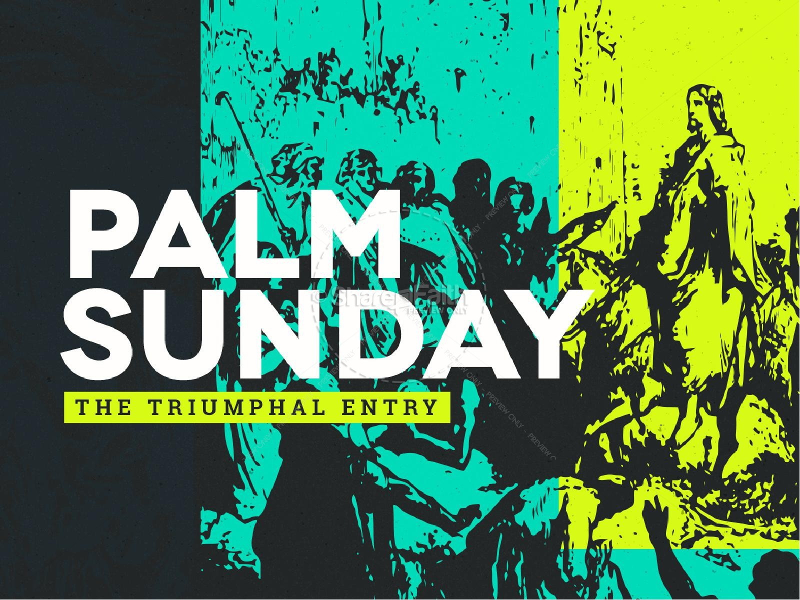 Palm Sunday Triumphal Entry PowerPoint