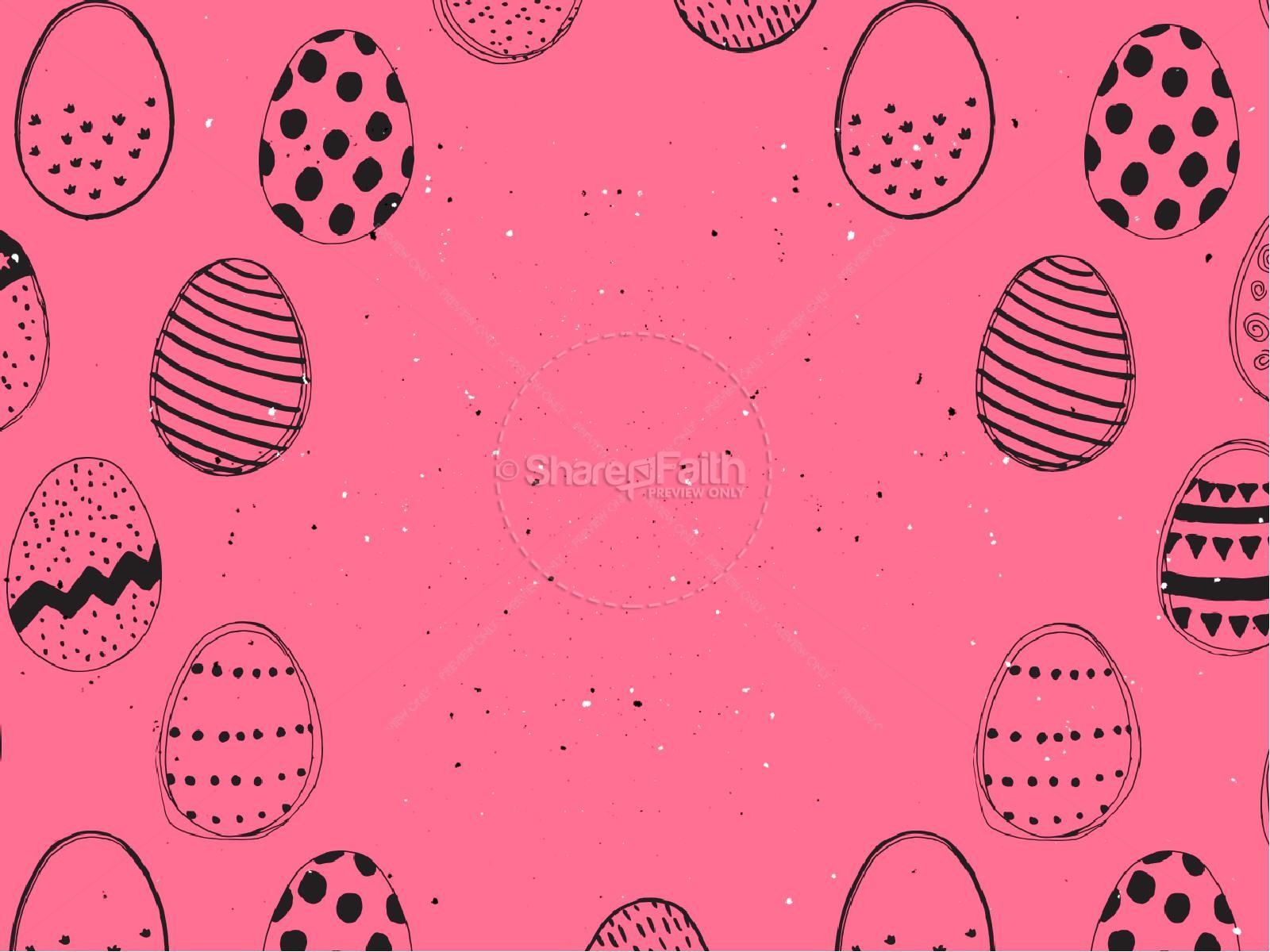 Church Easter Egg Hunt PowerPoint Template