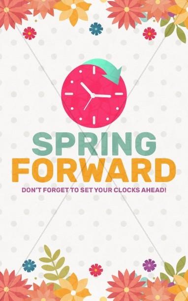Daylight Saving Time Spring Forward Bulletin