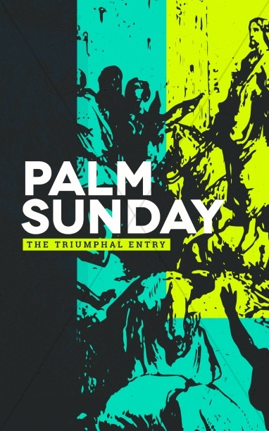 Palm Sunday Triumphal Entry Bulletin Cover