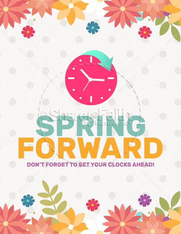 Daylight Saving Time Spring Forward Flyer Template  Flyer Templates