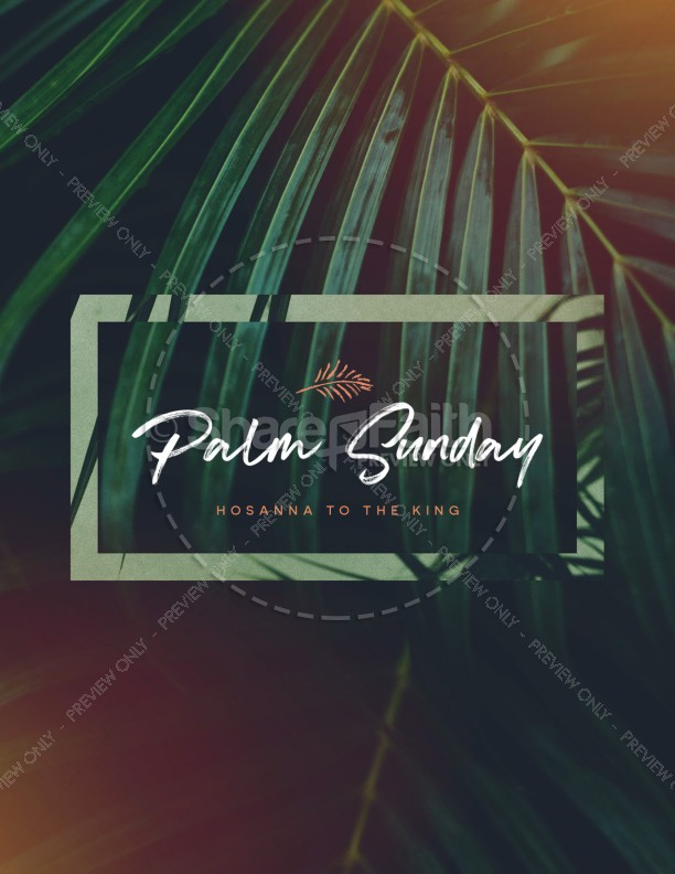 Palm Sunday Hosanna To The King Flyer Template | page 1