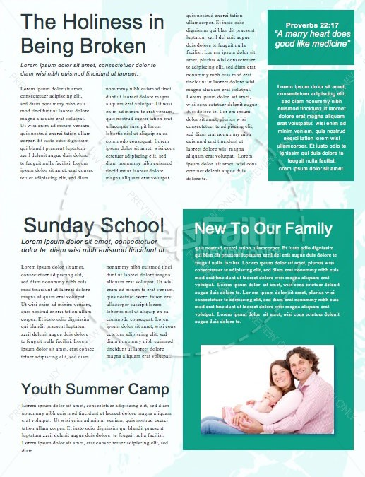 Palm Sunday Triumphal Entry Newsletter Template