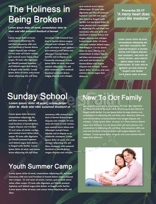 Palm Sunday Hosanna To The King Newsletter Template
