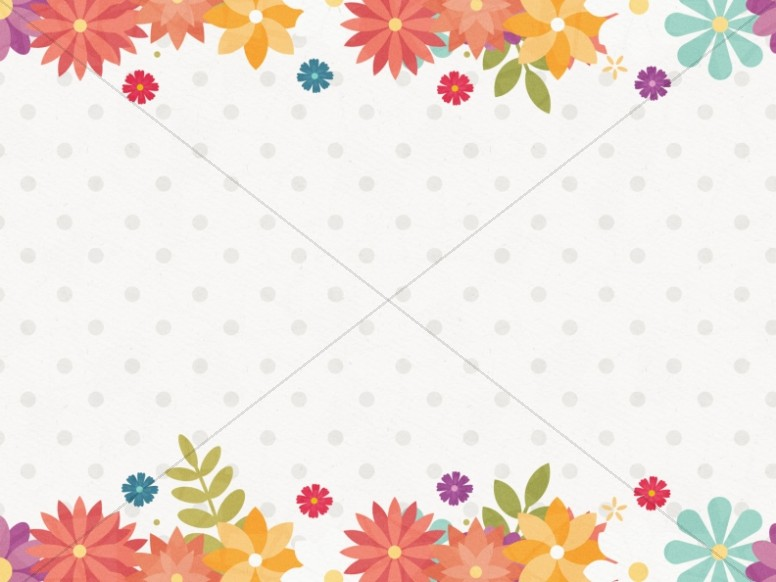 Spring Forward Floral Worship Background