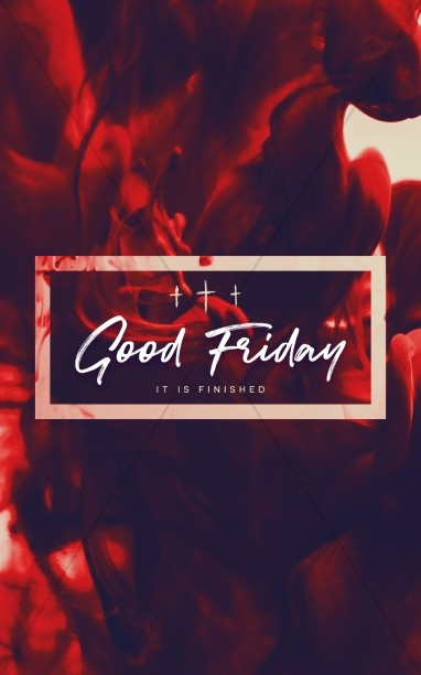 Good Friday It Is Finished Sermon Bulletin