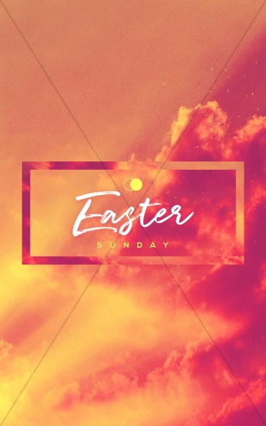 Easter Sunday He Has Risen Sermon Bulletin