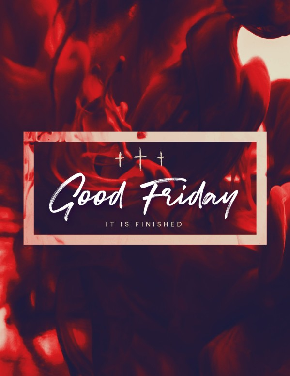 Good Friday It Is Finished Flyer Template