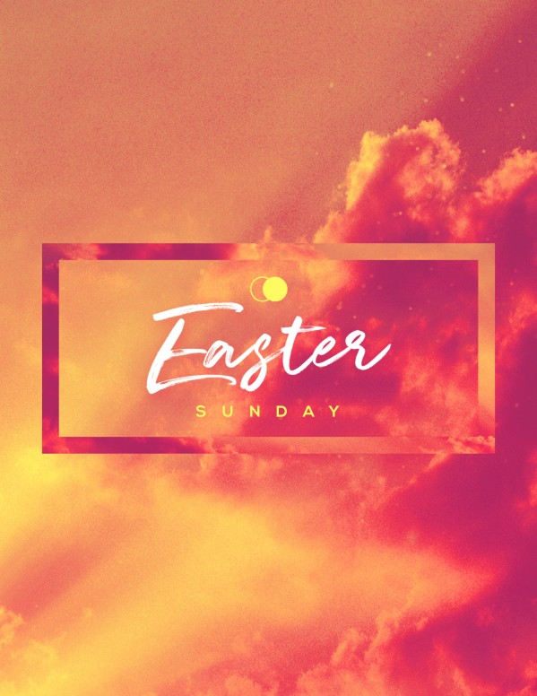 Easter Sunday He Has Risen Flyer Template
