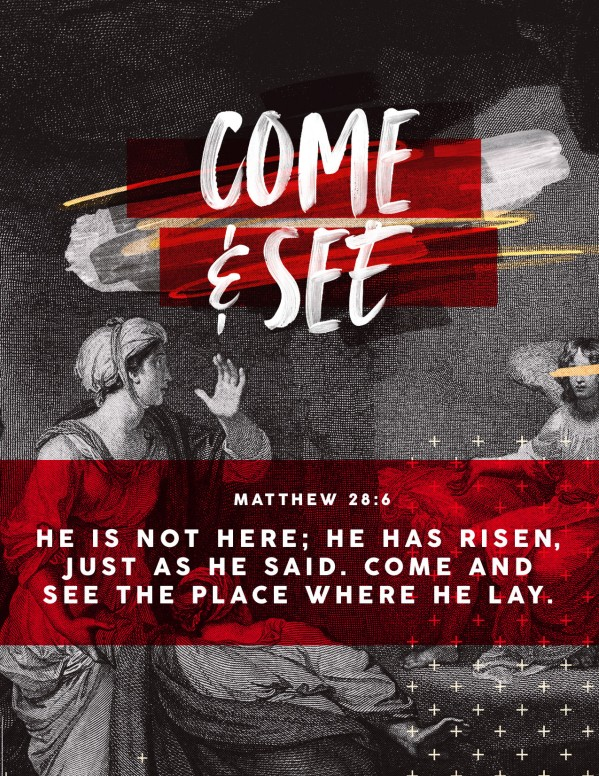 He Is Not Here For He Is Risen Easter Flyer Template