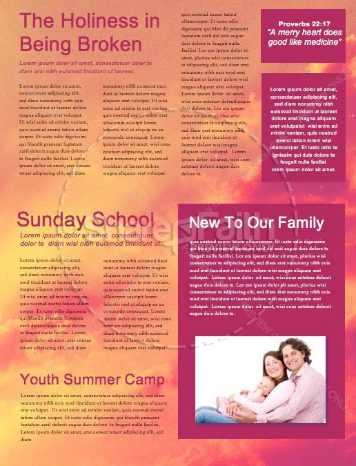 Easter Sunday He Has Risen Newsletter Template