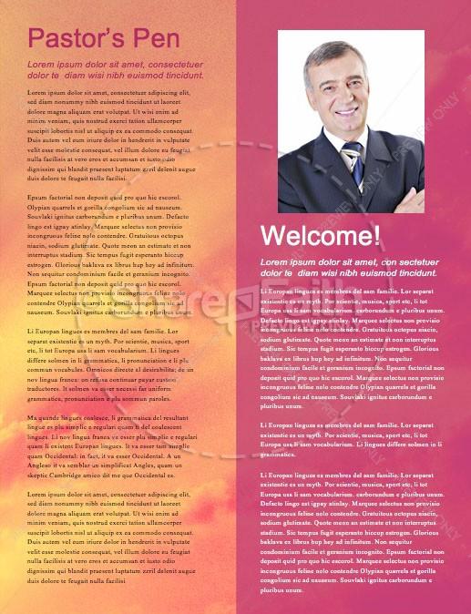 Easter Sunday He Has Risen Newsletter Template