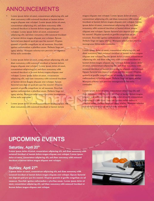 Easter Sunday He Has Risen Newsletter Template   page 4