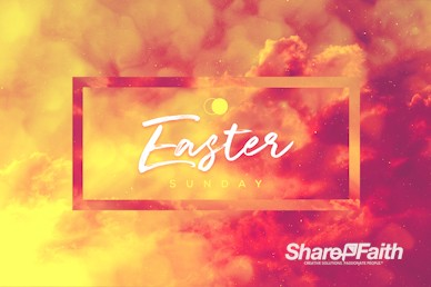 Easter Sunday He Has Risen Church Video Loop