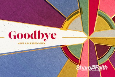 Stained Glass Easter Goodbye Video Loop