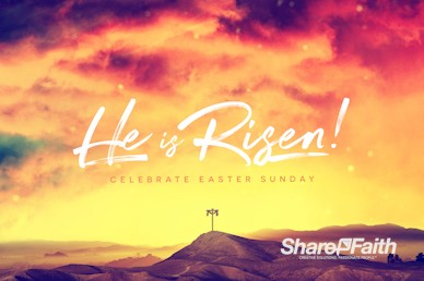 He Is Risen Easter Cross Service Bumper Video
