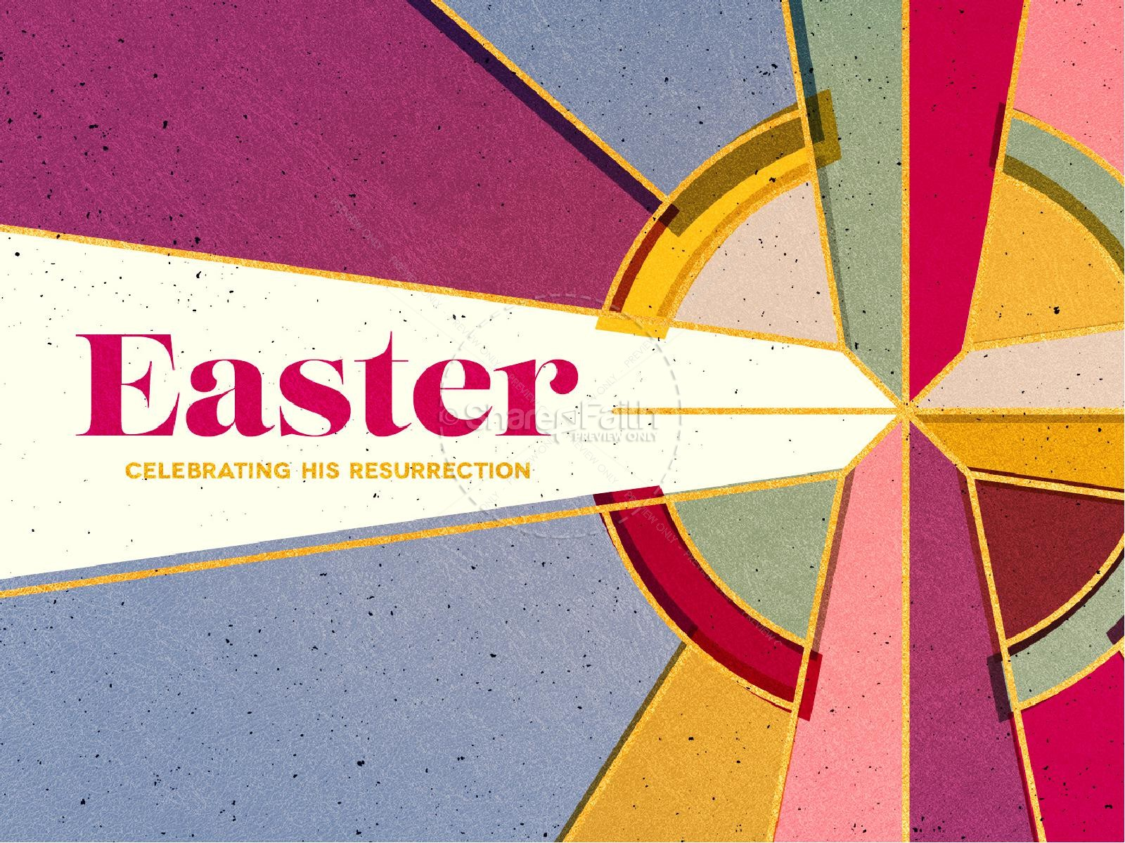 Stained Glass Easter Church PowerPoint