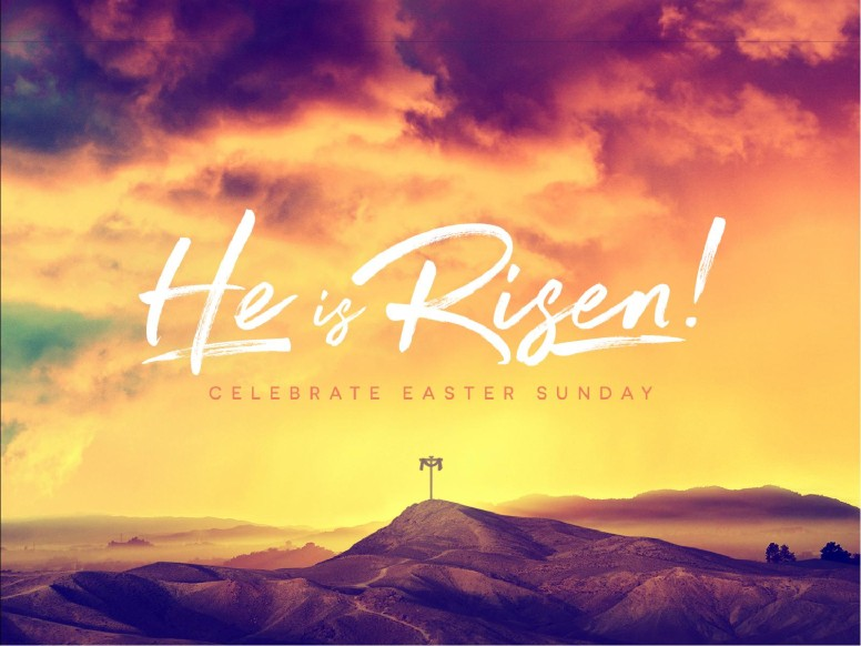 He Is Risen Easter Cross Sermon PowerPoint