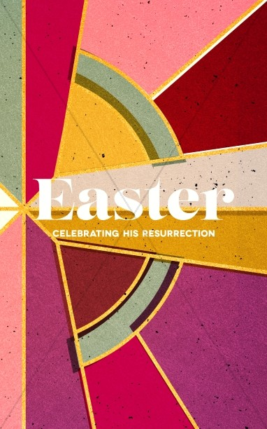 Stained Glass Easter Church Bulletin Cover