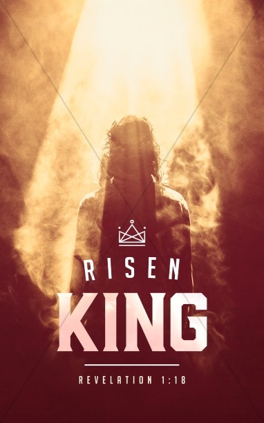 Risen King Easter Church Bulletin Cover