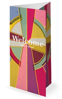 Stained Glass Easter Church Trifold Bulletin